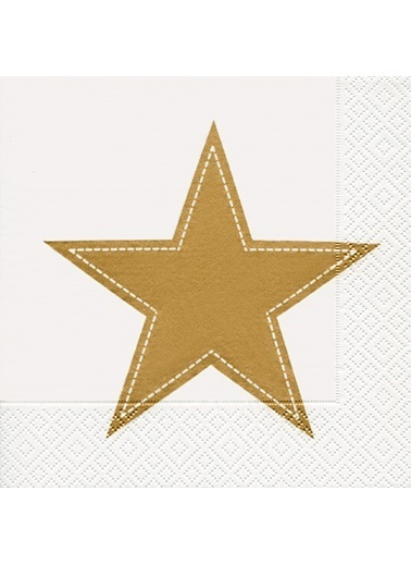 Dünya Style Simply Star Gold Peçete Renkli